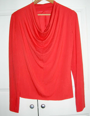 Amber Glow Orange Cowl neck top