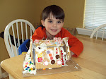 Elijah and his gingerbread house