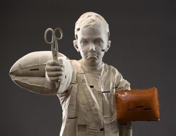 Gehard Demetz - sculptures sur bois E