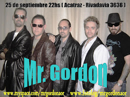 Mr Gordon en vivo