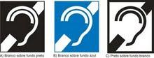 Símbolo Internacional de Pessoas com Deficiência Auditiva (surdez)