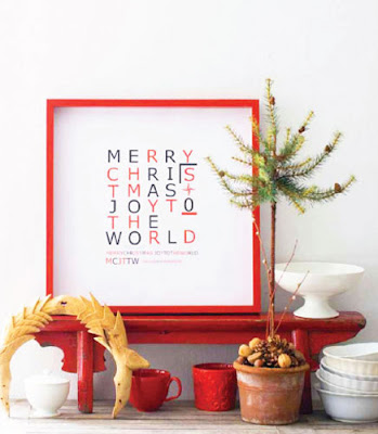 holiday print art