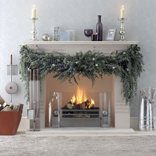 fresh eucalyptus mantelpiece garland