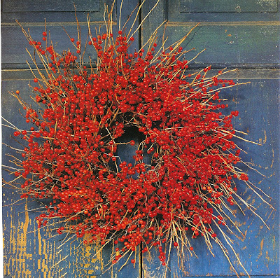 fresh red berry holiday wreath