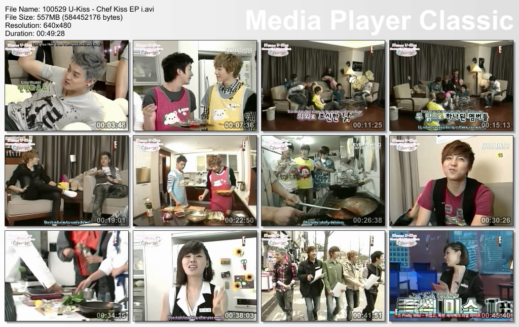 Donghonatics: [DOWNLOAD] {ENG SUB} 100529 U-Kiss - Chef Kiss EP 1