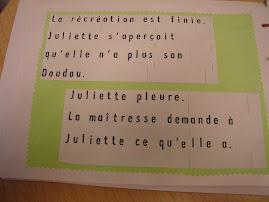 Juliette et son doudou d'après Guili-lapin (kaléidoscope)