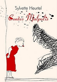 Contes malpolis: un livre rouge et nacré fabriqué à la main