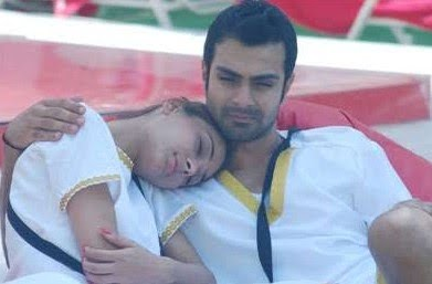 Sara Khan Ashmit Patel Cozy Pics from Bigg Boss 4