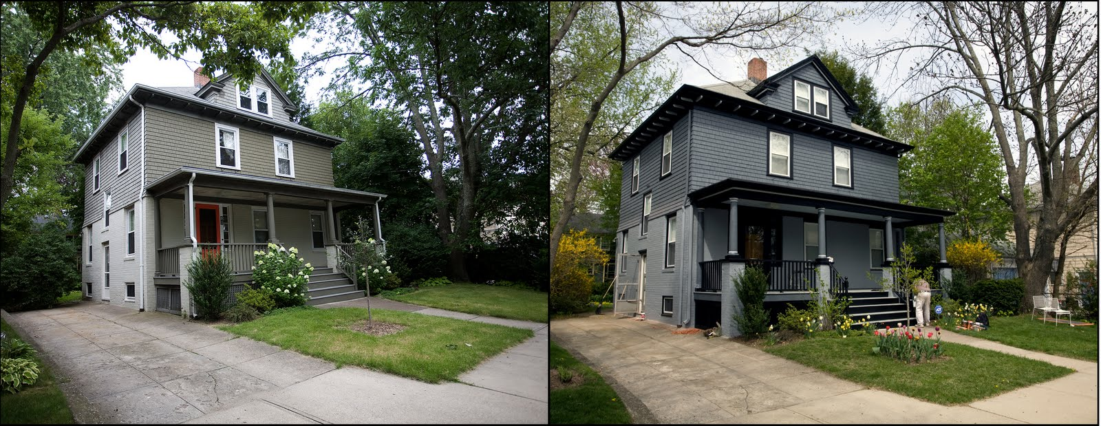 Before and after home renovations for Exterior home renovations