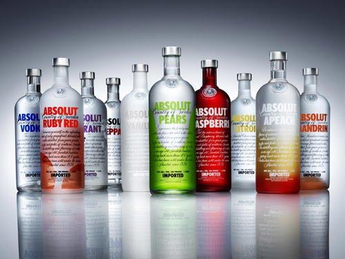Vodka Absolut - para um drinque