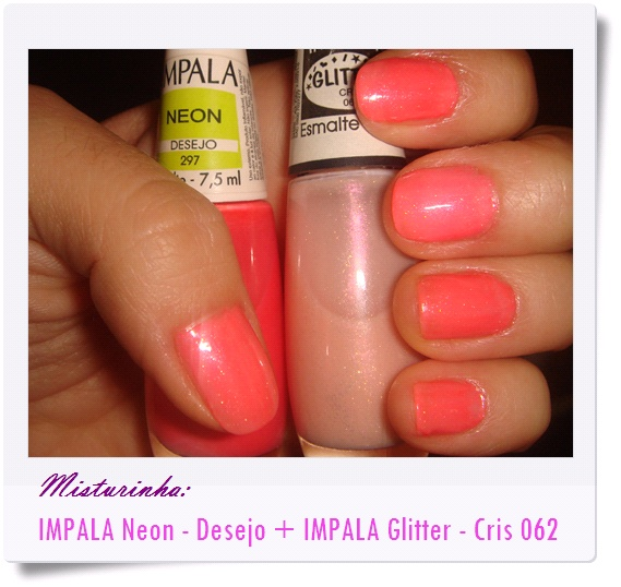 Esmalte rosa neon... com misturinha