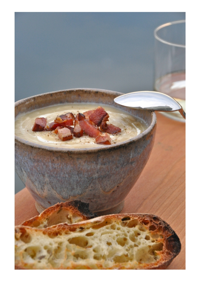 Smokey Bacon Potato Leek Soup