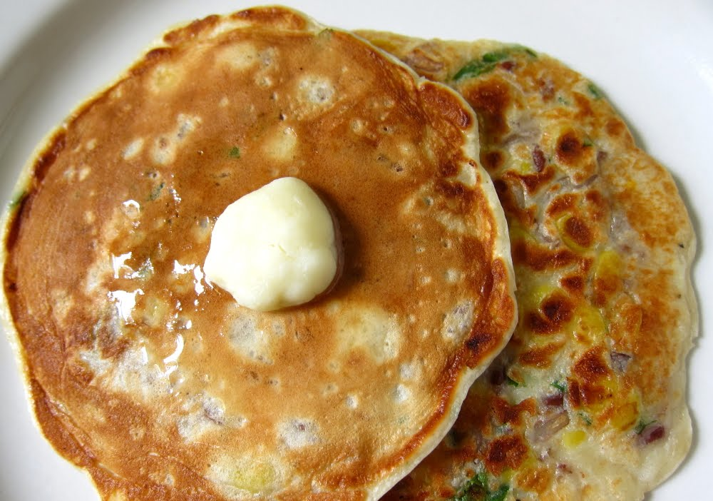 last call for corn: bobby flay's corn and wild rice pancakes