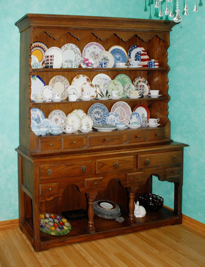 Jacobean Welsh Dresser Potboard dresser China cabinet hutch