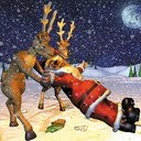 Pijani djed Mraz Božićne slike besplatne pozadine sličice za mobitele download