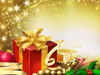 Zlatni Božićni pokloni download besplatne slike pozadine za mobitele