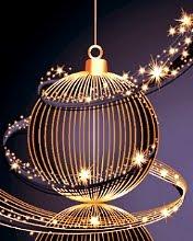 Lijepo dizajnirani sjajni Božićni balon download besplatne slike pozadine za mobitele