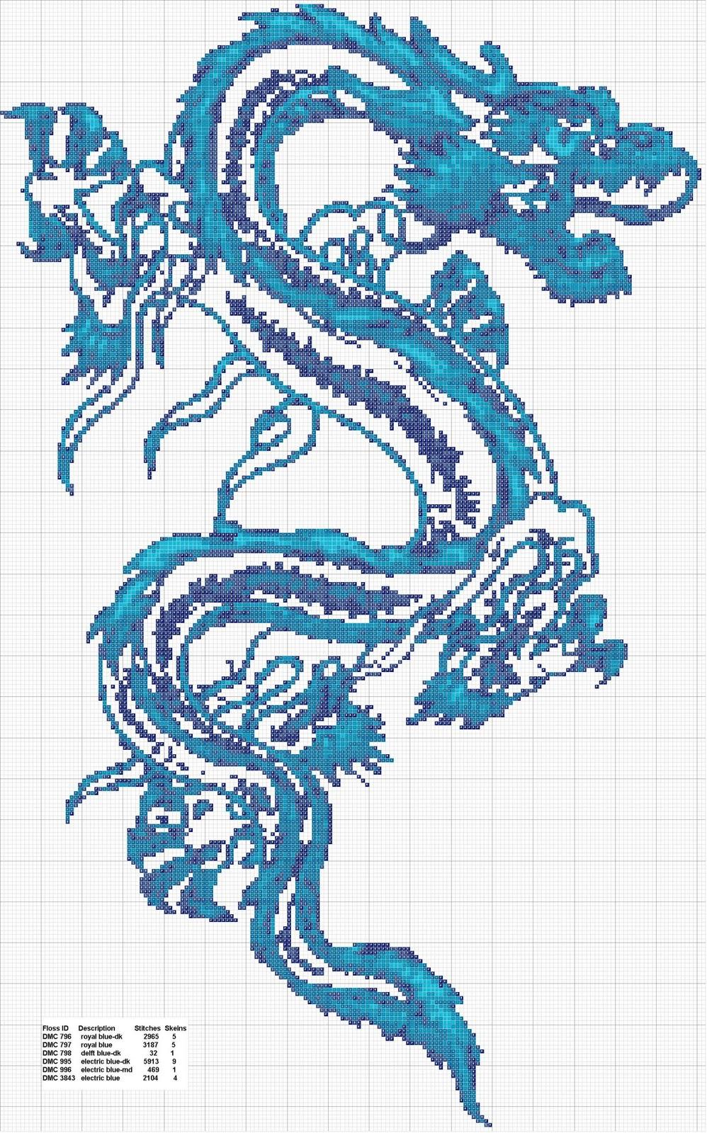 Дракон схема для вышивки бисером 68