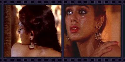 Shobana showing cleavage through her Transp Saree hot