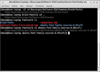 Gnome-Terminal con modificación del .bashrc para ver la ruta de los directorios