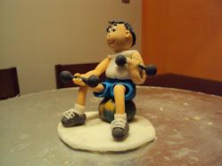 Personal trainer para topo de bolo