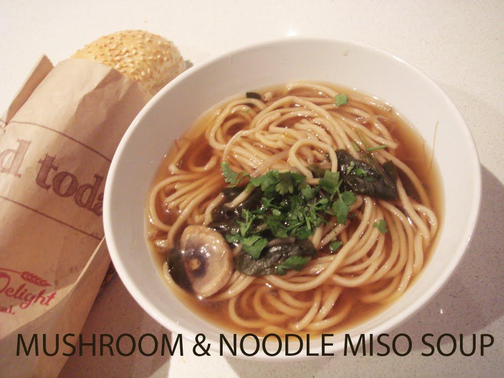 EAT, PLAN, SURVIVE: recipe: Mushroom & Noodle Miso Soup