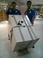Pindahan 2 unit Chubbsafe Gramedia dari Dbest JKT ke Grand City Surabaya