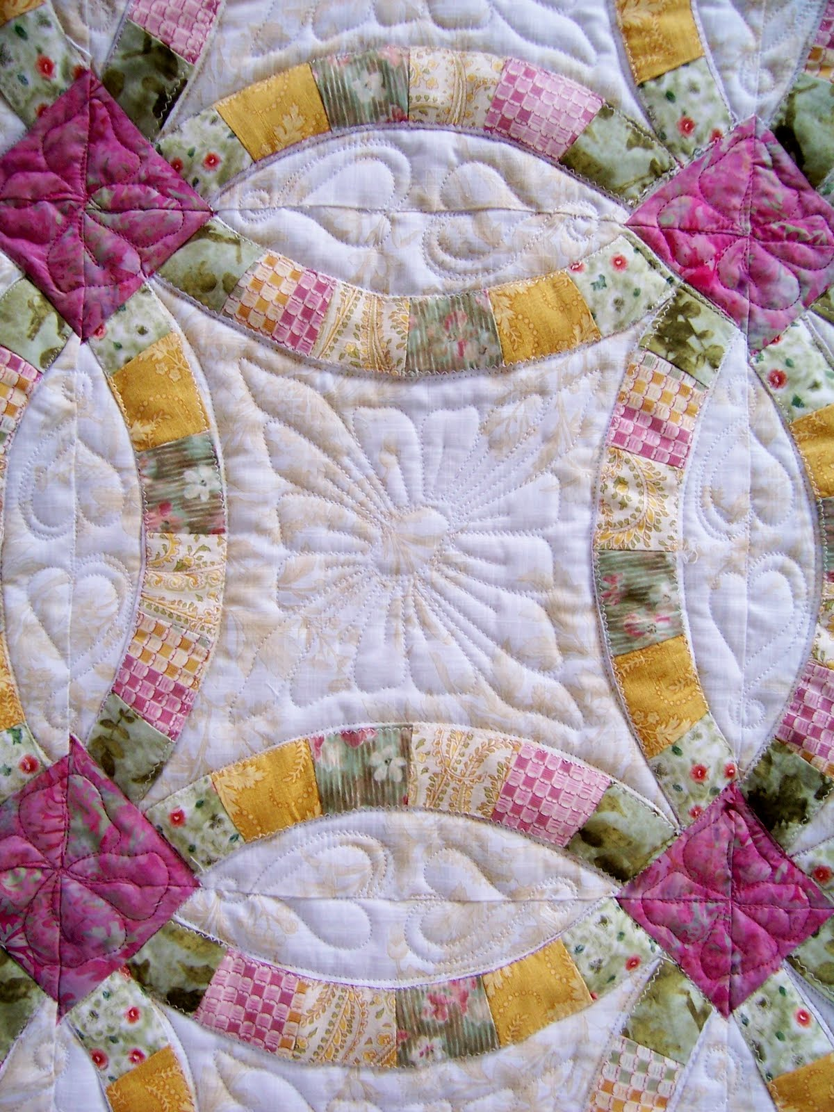 Finely Finished Quilts Wilmas Double Wedding Ring