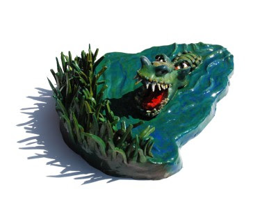 3D crocodile cross-eyed stereogram