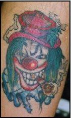clown tattoos design