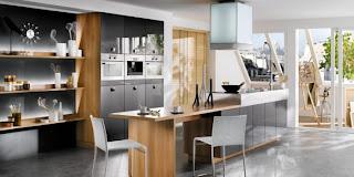 cocina-negra-blanca-reloj-iluminacion-cocina-linea-3-cocinas