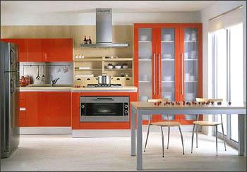 Dise o y decoraci n de cocinas cocinas rojas apuesta por lo fuerte - Cocinas en linea ...