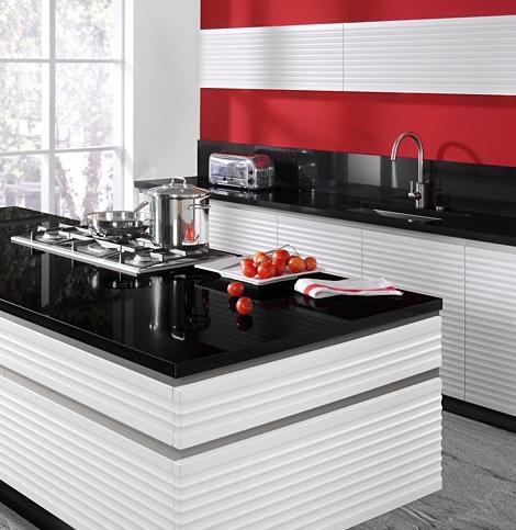 Dise o y decoraci n de cocinas sistema gola la cocina - Cocinas negras y blancas ...