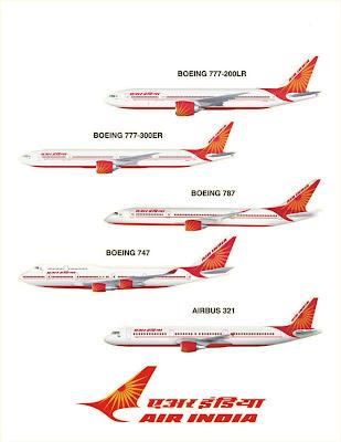 Air India 747 777 787 airbus 321