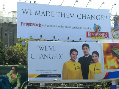 Jet Airways Kingfisher Airlines Mumbai Billboard