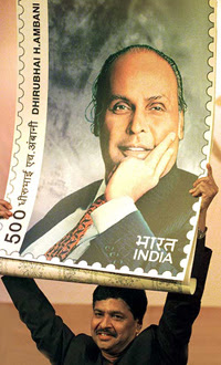 Dhirubhai Ambani of Reliance Industries