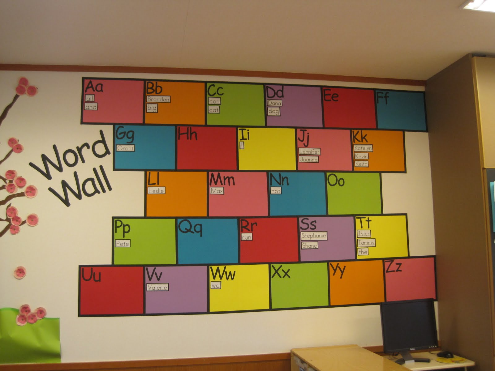 Classroom Word Wall Ideas ~ Flamingo fabulous confessions