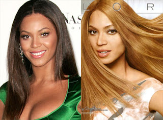 Comparison of Beyonce with whitewashed advertisement