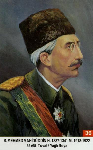 36 Sultan Mehmed Vahiduddin (Vahdet Dogumu : 2 Subat 1861 Vefati : 15 Mays 1926VI_Mehmet_Vahidettin