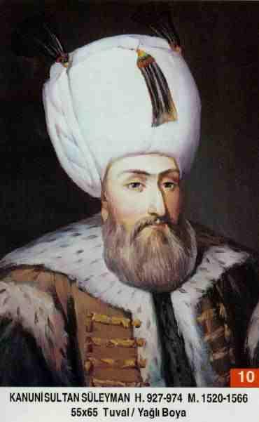 10 -Kanuni Sultan Süleyman (1520–1566) Suleyman_I_