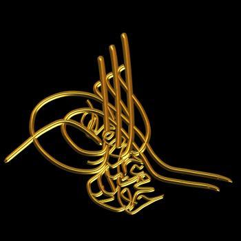 Sultan İkinci Mahmud * Tuğra Metni: Mahmud han bin Abdulhamid el-muzaffer daima (adli)