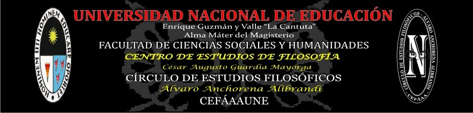 CÍRCULO DE ESTUDIOS FILOSÓFICOS D LA UNIVERSIDAD NACIONAL DE EDUCACIÓN. iii conef,www.cefaaa-une.tk