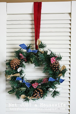9 My 5 minute $1 Christmas Wreath