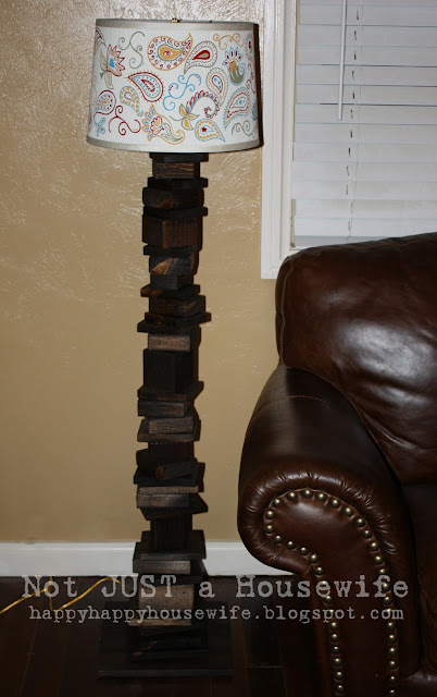 9 My scrap wood lamp with hand painted shade