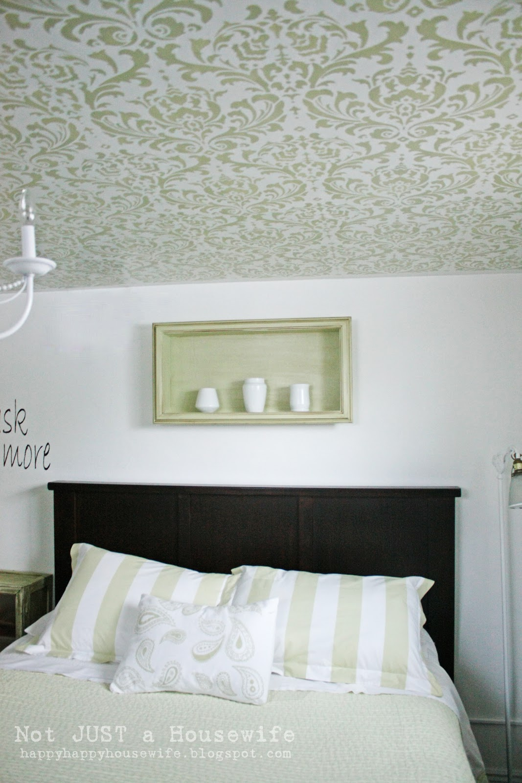 Stenciled ceiling stacy risenmay i wanted to show you a bunch of the after shots first but if you keep going you will see the before and a tutorial on how i did it amipublicfo Images