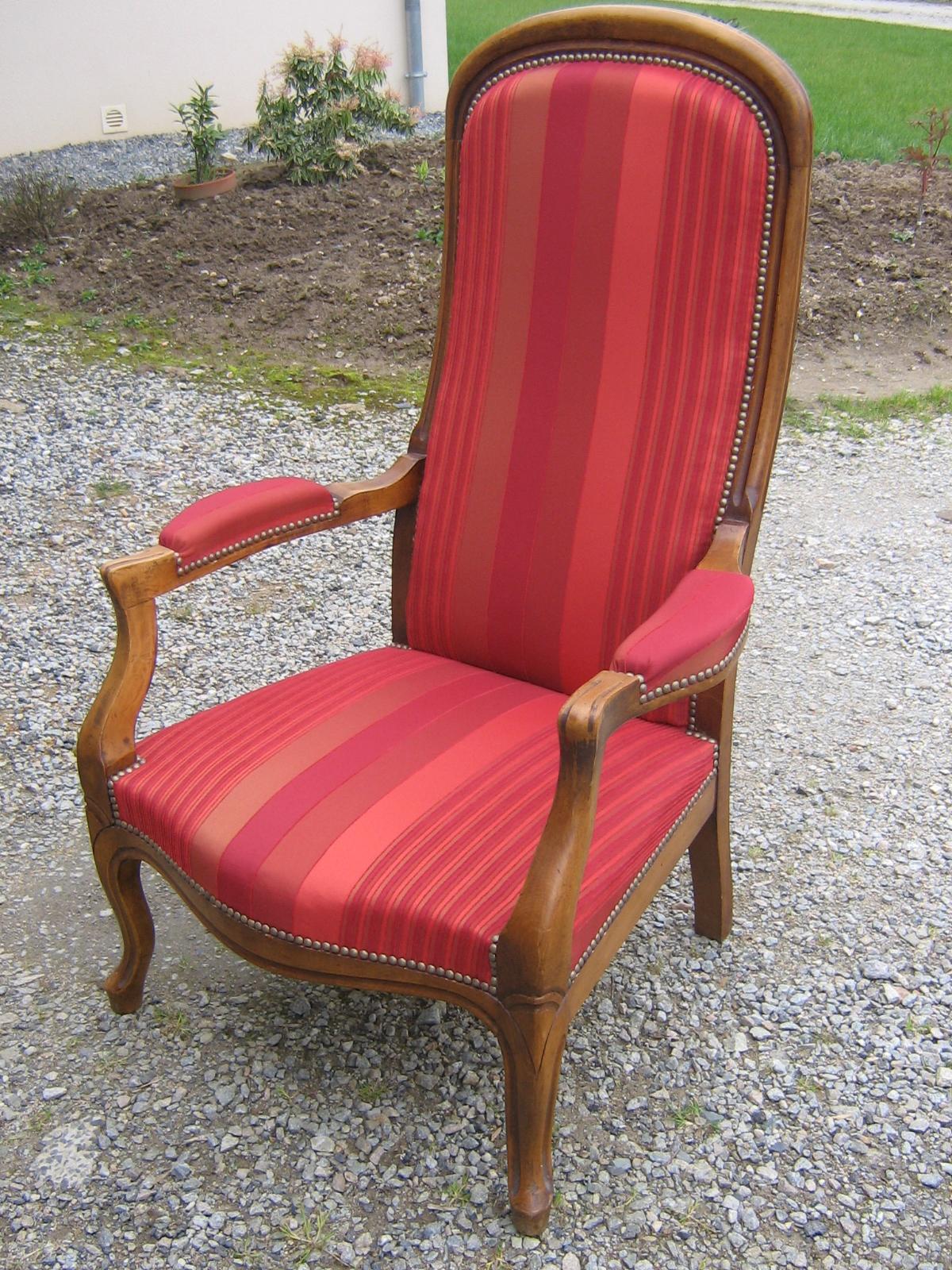 Pauline na l fauteuil voltaire restauration - Restauration fauteuil voltaire ...
