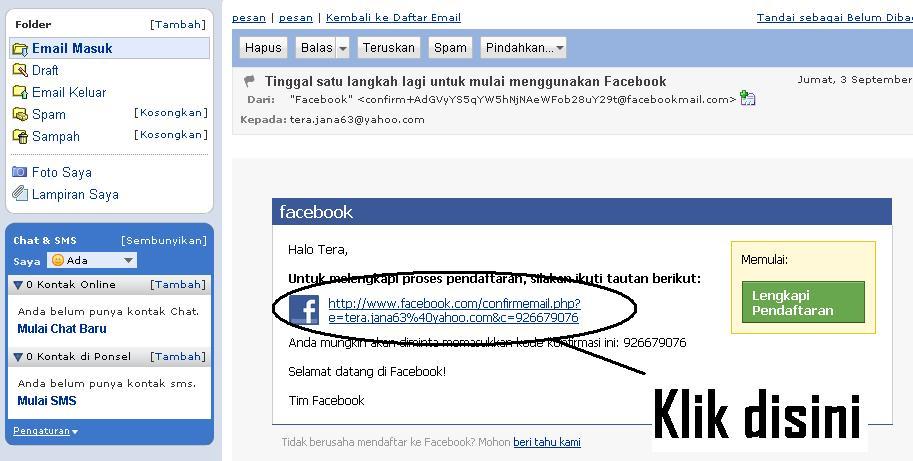 email Verifikasi Twitter dan Facebook