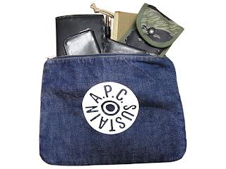 a.p.c. denim pouch