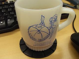 vintage fire king mug