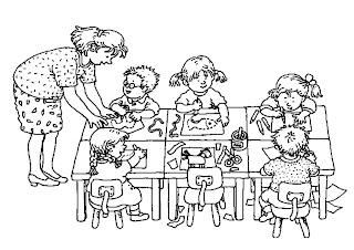 in de klas Imagens da Escola para colorir e imprimir para crianças